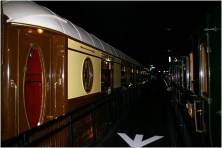 Wagons-Lits Pullman car built for the Golden Arrow / Fleche d'Or service, this car being displayed in the French Railway Museum at Mulhouse.