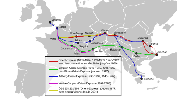 The Routes of the multiple Orient Expresses