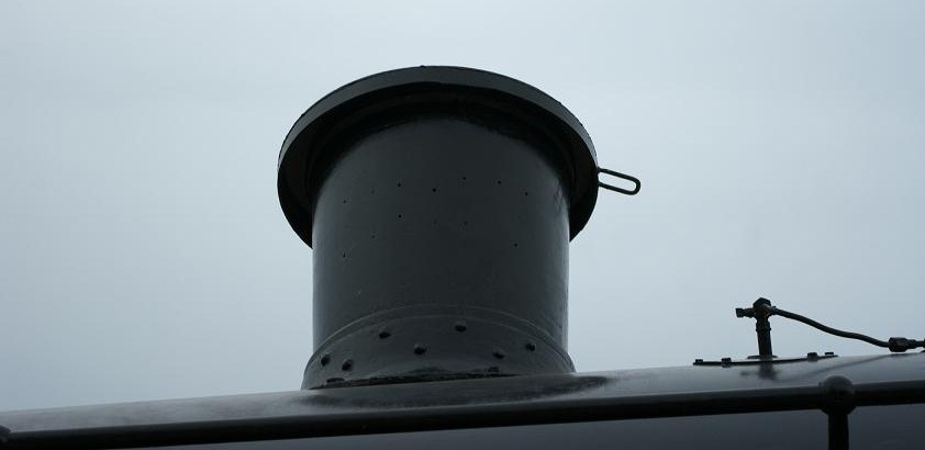 More weather proofing, this time in the form of a chimney cap to stop rain from entering the boiler