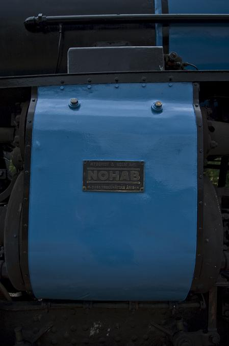 Most of the upper half of the loco has now been stripped of rust and repainted. - Cylinder cover
